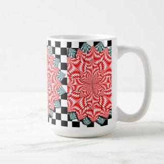 Digital Flower White Mug