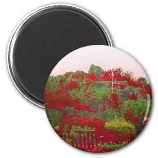 Digital Flowerbed 2 Inch Round Magnet