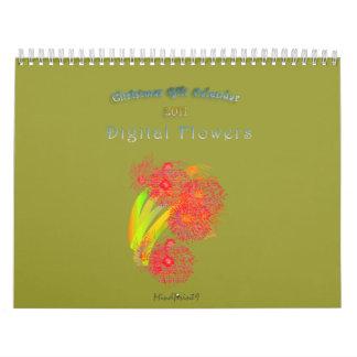 Digital Flowers - Christmas Gift Calendar
