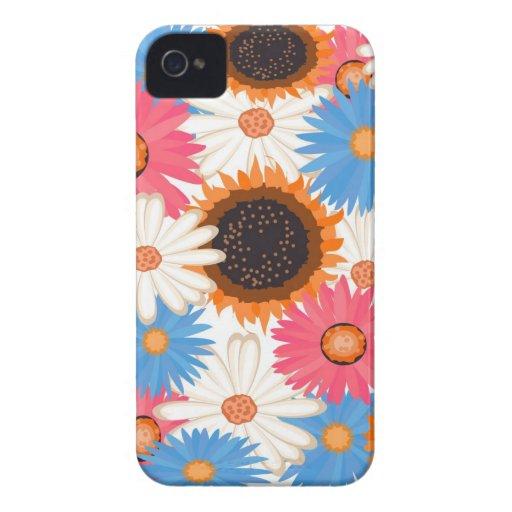 Digital Flowers iPhone 4/4S ID Case iPhone 4 Case-Mate Case