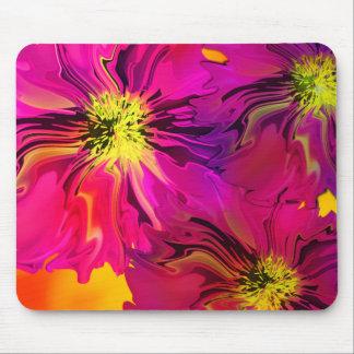 Digital flowers mousepad