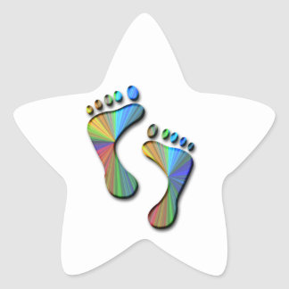 Digital Footprint Star Sticker