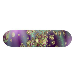 Digital Fractal Bubbles Skateboards