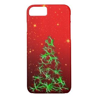 Digital Fractal Christmas Tree Over Star Field iPhone 8/7 Case