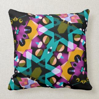 Digital Futuristic Geometric Pattern Pillow