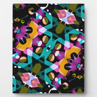 Digital Futuristic Geometric Pattern Plaque