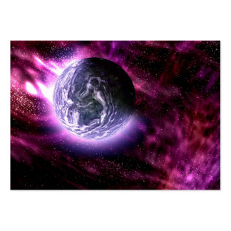 Digital Galaxy Alien Planet In Space Pink Nebula Large Business Card