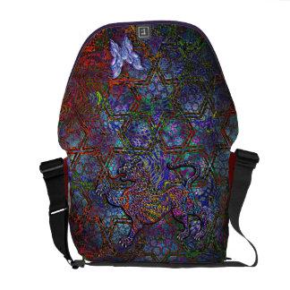 Digital Geometric Art Bag & Leopard & Butterfly