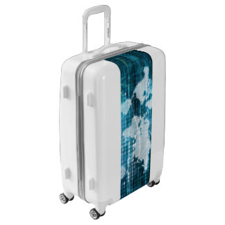 Digital Global Technology Concept Abstract Luggage