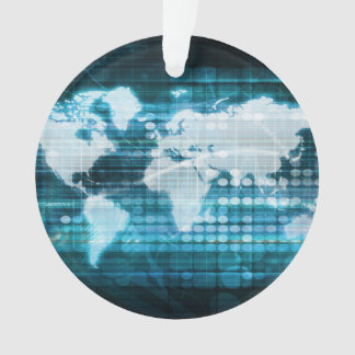 Digital Global Technology Concept Abstract Ornament