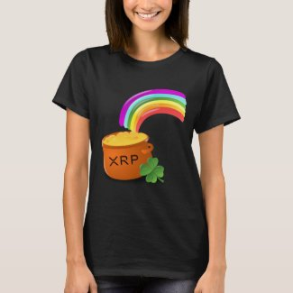Digital Gold XRP at the end of the rainbow Ripple T-Shirt