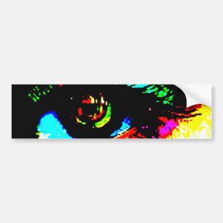 Digital Graffiti Eye Car Bumper Sticker