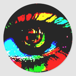 Digital Graffiti Eye Classic Round Sticker