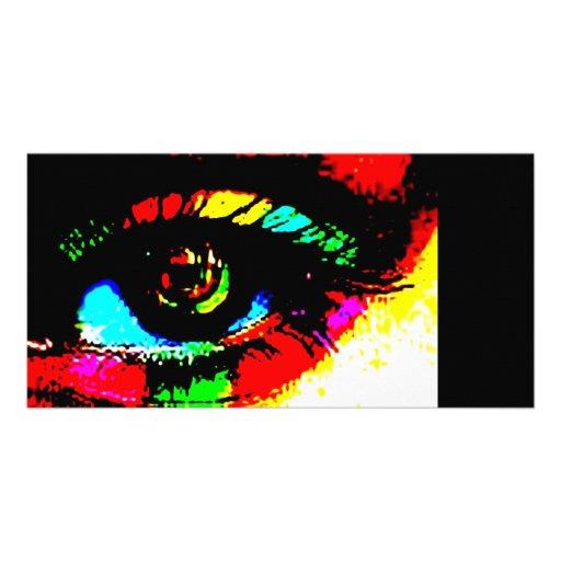 Digital Graffiti Eye Custom Photo Card