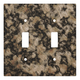 Brown Light Switches: Digital Granite Texture Champagne Dark Brown Light Switch Cover,Lighting