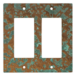 Digital Graphic Oxidized Copper Patina Texture Light Switch Cover