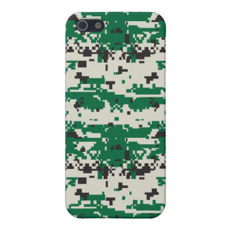 Digital Green Camouflage Pattern Case For iPhone SE/5/5s