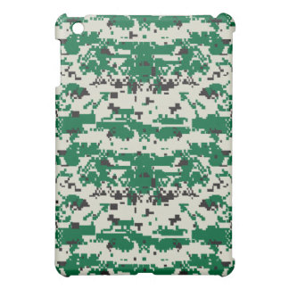 Digital Green Camouflage Pattern Cover For The iPad Mini