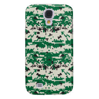 Digital Green Camouflage Pattern Samsung Galaxy S4 Cover