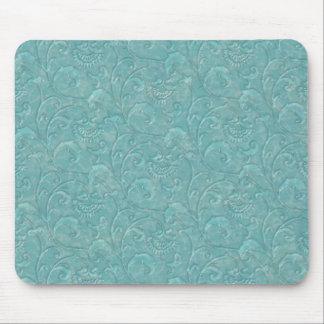 "Digital Green ""Liquid Marble"" Print Mousepad"