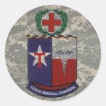 digital, guardabosques médicos de Tejas no azules Etiqueta Redonda