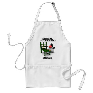 Digital Gutenberg Inside (Open Source Duke) Adult Apron
