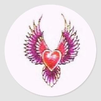 Digital Heart Collection Classic Round Sticker