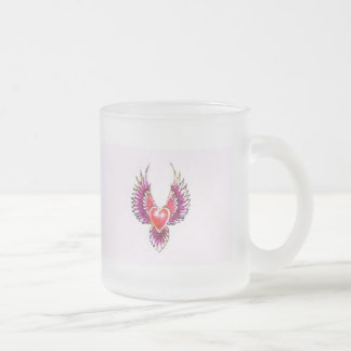 Digital Heart Collection Frosted Glass Coffee Mug