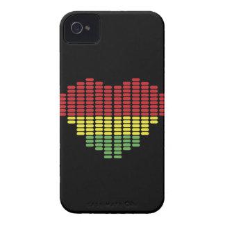 Digital heart iPhone 4 case