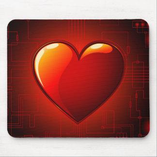 Digital Heart Mouse Pad