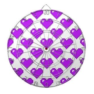 Digital Heart Pattern; Purple Dartboard