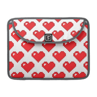 Digital Heart Pattern; Red MacBook Pro Sleeve