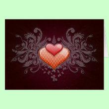 Digital Hearts Card