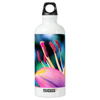 Digital Hibiscus Aluminum Water Bottle