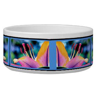 Digital Hibiscus Dog Water Bowls