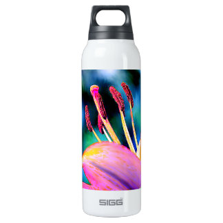 Digital Hibiscus Insulated Water Bottle