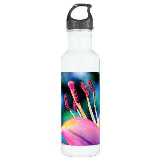 Digital Hibiscus Stainless Steel Water Bottle