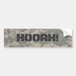 ¡digital, HOOAH! estilo del hummer Etiqueta De Parachoque