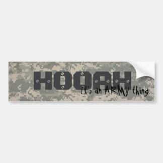 digital, HOOAH, It's an ARMY thing. Car Bumper Sticker