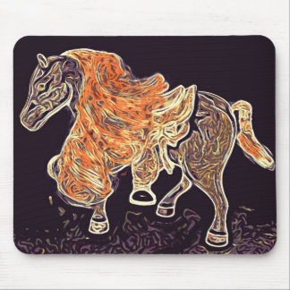 Digital Horse acrylic painting Mouse Pad