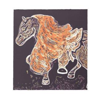 Digital Horse acrylic painting Scratch Pad