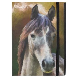 "Digital horse portrait painting name iPad pro 12.9"" case"