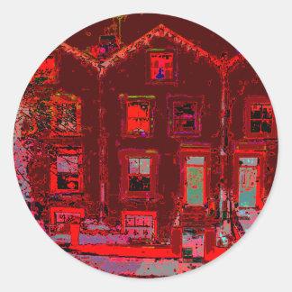 Digital Houses Classic Round Sticker