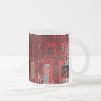 Digital Houses Frosted Glass Coffee Mug