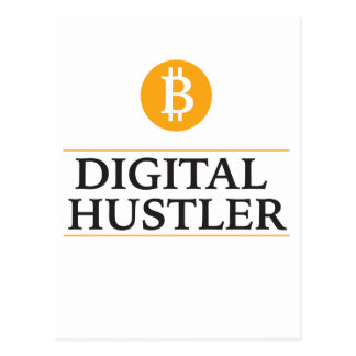 Digital Hustler bit coin miner Postcard