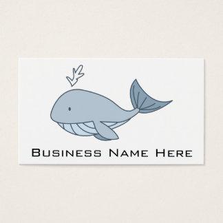 Digital illustration, Blue Whale, Ocean Animal Business Card