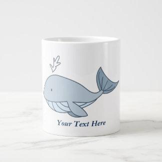 Digital illustration, Blue Whale, Ocean Animal Large Coffee Mug
