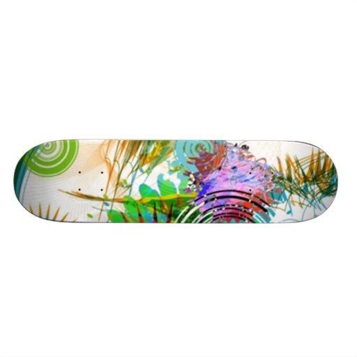 Digital illustration graphic - skateboard deck