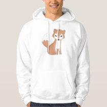Digital Illustration Of A Cute Fox Hoodie