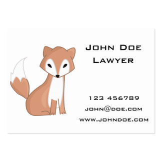 Digital Illustration Of A Cute Fox Large Business Card